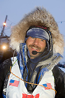 Robert Sorlie @ the Finish Line Front St Nome AK 2005 Iditarod Winner