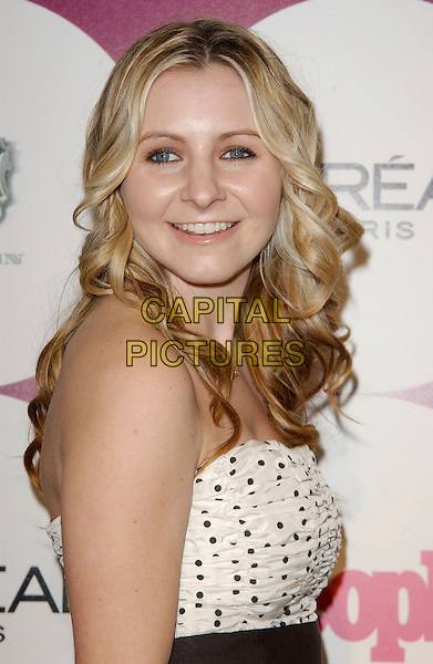 BEVERLEY MITCHELL.People Magazine and Post Grammy Party held at ELEVEN, West Hollywood, California, USA..February 11th, 2007.half length white black polka dot.CAP/ADM/RE.©Russ Elliot/AdMedia/Capital Pictures *** Local Caption *** .