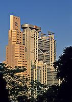 China. Hong Kong. Hong Kong & Shanghai Bank Headquarters building and Standard Chartered Bank.