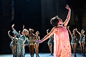 London, UK. 04.09.2017. The National theatre presents &ldquo;Follies&rdquo;, written by James Goldman, with<br /> music and lyrics by Stephen Sondheim. This production is directed by Dominic Cooke, choreographed by Bill Deamer, with design by Vicki Mortimer and lighting design by Paule Constable. Tracie Bennett,&nbsp;Janie Dee&nbsp;and&nbsp;Imelda Staunton&nbsp;play the magnificent Follies in this new production, which features a cast of 37 and an orchestra of 21.&nbsp;<br /> Picture shows: Dawn Hope (Stella Deems - front), Imelda Staunton (Sally Durant Plummer - left). Photograph &copy; Jane Hobson.