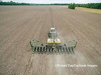 63801-10013 Farmer planting corn-aerial Marion Co. IL