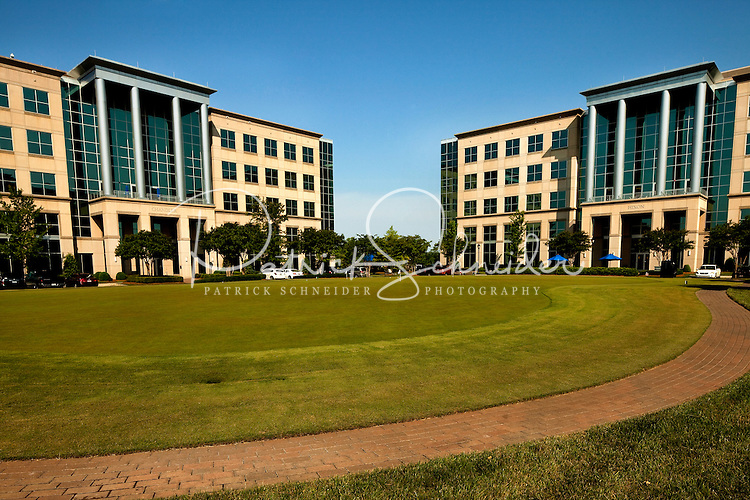 The Chandler and Hixon buildings, corporate offices, are located in the Ballantyne Corporate Park in Charlotte, NC. Ballantyne, a suburb of Charlotte NC, is located near the South Carolina border. The 2,000-acre mixed-use development was created by land developer Howard C. Smokey Bissell.