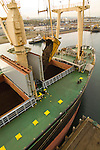 Ship loading of shredded scrap metal for export