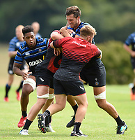 Luke Charteris of Bath Rugby in action against the visiting Dragons team. Bath Rugby pre-season training on August 8, 2018 at Farleigh House in Bath, England. Photo by: Patrick Khachfe / Onside Images