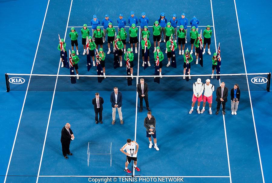 JOHN PEERS (AUS), HENRI KONTINEN (FIN)<br /> <br /> TENNIS , AUSTRALIAN OPEN,  MELBOURNE PARK, MELBOURNE, VICTORIA, AUSTRALIA, GRAND SLAM, HARD COURT, OUTDOOR, ITF, ATP, WTA<br /> <br /> &copy; TENNIS PHOTO NETWORK