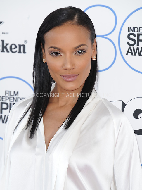 WWW.ACEPIXS.COM<br /> <br /> February 21 2015, LA<br /> <br /> Selita Ebanks arriving at the 2015 Film Independent Spirit Awards at Santa Monica Beach on February 21, 2015 in Santa Monica, California.<br /> <br /> By Line: Peter West/ACE Pictures<br /> <br /> <br /> ACE Pictures, Inc.<br /> tel: 646 769 0430<br /> Email: info@acepixs.com<br /> www.acepixs.com