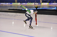 SPEEDSKATING: CALGARY: 13-11-2015, Olympic Oval, ISU World Cup, 5000m, Andrea Giovannini (ITA), ©foto Martin de Jong