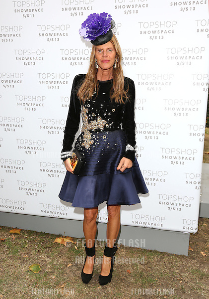 Anna Dello Russo arriving at the Unique catwalk show as part of London Fashion Week SS13, Top Shop Venue, Bedford Square, London. 16/09/2012 Picture by: Henry Harris / Featureflash