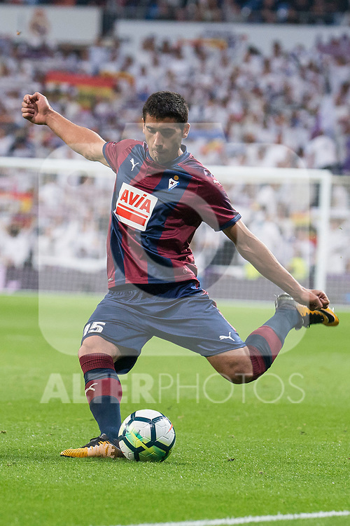 Eibar Jose Angel 'Cote' during La Liga match between Real Madrid and Eibar at Santiago Bernabeu Stadium in Madrid, Spain. October 22, 2017. (ALTERPHOTOS/Borja B.Hojas)