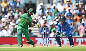 June 18th 2017, The Kia Oval, London, England;  ICC Champions Trophy Cricket Final; India versus Pakistan; Imad Wasim of Pakistan hits a straight 6