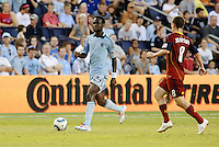 Kei Kamara Sporting KC midfielder in action... Sporting Kansas City defeated Real Salt Lake 2-0 at LIVESTRONG Sporting Park, Kansas City, Kansas.