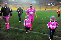 Referee Cameron Stone walks off after the ITM Cup rugby union match between Wellington Lions and Northland at Westpac Stadium, Wellington, New Zealand on Saturday, 29 August 2015. Photo: Dave Lintott / lintottphoto.co.nz
