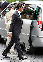 L'allenatore della nazionale di calcio inglese Fabio Capello arriva al matrimonio tra la modella Elisabetta Gregoraci ed il team manager della Renault Formula Uno Flavio Briatore  alla Chiesa di Santo Spirito in Sassia, Roma, 14 giugno 2008..England's national football team manager Fabio Capello arrives for the wedding ceremony between top model Elisabetta Gregoraci and Renault F1 boss Flavio Briatore at St. Spirito in Sassia's church in Rome, 14 june 2008..UPDATE IMAGES PRESS/Riccardo De Luca