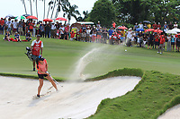 Danielle Kang (USA) in action on the 18th during Round 3 of the HSBC Womens Champions 2018 at Sentosa Golf Club on the Saturday 3rd March 2018.<br /> Picture:  Thos Caffrey / www.golffile.ie<br /> <br /> All photo usage must carry mandatory copyright credit (&copy; Golffile   Thos Caffrey)