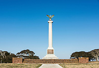 Confederate Monument at Fort Fisher state Historic Site, Kure Beach, North Carolina, USA