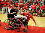 May 17, 2011 Colorado Springs, CO.  The Marine Corps and Army square off in the opening round of the wheelchair basketball competion during the 2011 Warrior Games at the U.S. Olympic Training Center, Colorado Springs, CO...