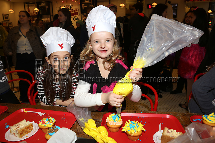 Lilla Crawford, Star of 'ANNIE', Celebrates her 12th Birthday with Oona Laurence & Milly Shapiro with  fellow child actors of Broadway Shows  at the Cake Boss Cafe in New York City on 3/25/2013
