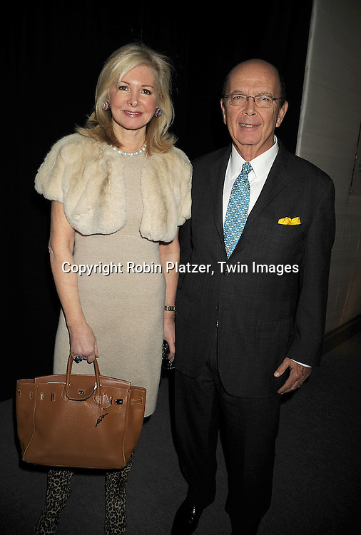 Hillary and Wilbur Ross..at The 55th Annual Winter Antiques Show opening night on January 22, 2009 at The Park Avenue Armory at 67th Street and Park Avenue in New York City. ....Robin Platzer, Twin Images