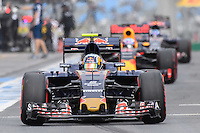 March 19, 2016: Carlos Sainz (ESP) #55 from the Scuderia Toro Rosso team leaving the pits for qualifying at the 2016 Australian Formula One Grand Prix at Albert Park, Melbourne, Australia. Photo Sydney Low