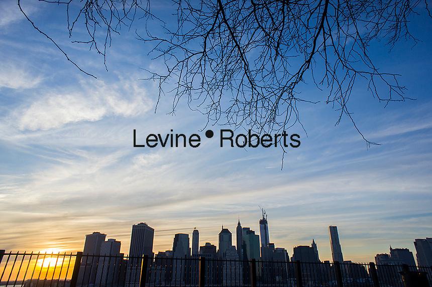 Lower Manhattan skyline in New York seen from Brooklyn Heights on Sunday, April 21, 2013  (© Richard B. Levine)