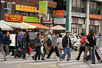 Toronto (ON) CANADA,  April 26 , 2008-..People walking and shopping  on Bathurst near  Dundas street in Chinatown....