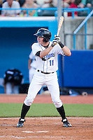 Alec Sole (11) of the Hudson Valley Renegades at bat against the Brooklyn Cyclones at Dutchess Stadium on June 18, 2014 in Wappingers Falls, New York.  The Cyclones defeated the Renegades 4-3 in 10 innings.  (Brian Westerholt/Four Seam Images)