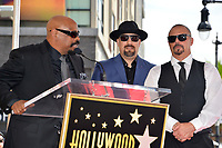 LOS ANGELES, CA. April 18, 2019: Cypress Hill, Sen Dog, B Real &amp; DJ Muggs at the Hollywood Walk of Fame Star Ceremony honoring hip-hop group Cypress Hill.<br /> Pictures: Paul Smith/Featureflash