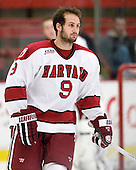 Danny Biega (Harvard - 9) - The Harvard University Crimson defeated the University of New Hampshire Wildcats 7-6 on Tuesday, November 22, 2011, at Bright Hockey Center in Cambridge, Massachusetts.