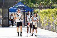 San Jose, CA - Saturday July 28, 2018: Yeferson Quintana, Jacob Akanyirige, Gilbert Fuentes during a Major League Soccer (MLS) match between the San Jose Earthquakes and Real Salt Lake at Avaya Stadium.