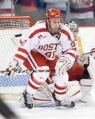 Matt Gilroy (BU - 97) - The Boston University Terriers defeated the University of Maine Black Bears 1-0 (OT) on Saturday, February 16, 2008 at Agganis Arena in Boston, Massachusetts.