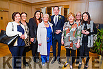Antoinette Butler, Marita Sullivan, Rosaleen Higgins, Cait Browne, Aileen Lynch, Shirley Higgins and Christine Higgins (all from Castleisland) pictured with Ryan Tubridy at a talk presented by Holocaust survivor Eva Schloos, who is author and stepsister of Anne Frank, which was part of International Women's Day Kerry event put on by the Kerry Businesswomen's Network and the Bon Secours Hospital at Ballygarry House Hotel & Spa, Tralee on Tuesday evening last.