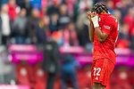 05.10.2019, Allianz Arena, Muenchen, GER, 1.FBL,  FC Bayern Muenchen vs. TSG 1899 Hoffenheim, DFL regulations prohibit any use of photographs as image sequences and/or quasi-video, im Bild Serge Gnabry (FCB #22) enttaeuscht<br /> <br />  Foto © nordphoto / Straubmeier