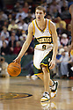 27 March 2005: Luke Ridnour (#8) of the Seattle Supersonics,  in a loosing effort to the Washington Wizards (95-94) at the Key Arena in Seattle, Washington..Mandatory Credit: Rob Holt/Icon SMI