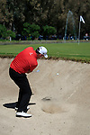 Kenneth Ferrie (ENG) chips out of a bunker onto the 3rd green during the Final Day Sunday of the Open de Andalucia de Golf at Parador Golf Club Malaga 27th March 2011. (Photo Eoin Clarke/Golffile 2011)