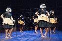 London, UK. 17.5.12. Isango Ensemble present a programme of three productions, at the Hackney Empire: La Boheme, the Ragged Trousered Philanthropists, and Aesop's Fables. Picture shows: The White Lady Chorus from The Ragged Trousered Philanthropists.