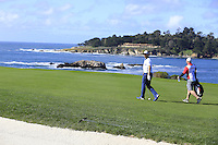 Green Bay Packers NFL quarterback Aaron Rodgers on the 6th hole at Pebble Beach Golf Links during Saturday's Round 3 of the 2017 AT&amp;T Pebble Beach Pro-Am held over 3 courses, Pebble Beach, Spyglass Hill and Monterey Penninsula Country Club, Monterey, California, USA. 11th February 2017.<br /> Picture: Eoin Clarke | Golffile<br /> <br /> <br /> All photos usage must carry mandatory copyright credit (&copy; Golffile | Eoin Clarke)