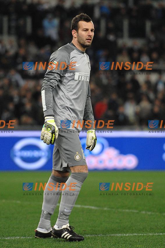Samir Handanovic Inter.<br /> Roma 06-01-2014 Stadio Olimpico. Football Calcio 2013/2014 Serie A. Lazio - Inter. Foto Antonietta Baldassarre / Insidefoto