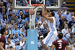 18 January 2015: North Carolina's Brice Johnson dunks the ball. The University of North Carolina Tar Heels played the Virginia Tech University Hokies in an NCAA Division I Men's basketball game at the Dean E. Smith Center in Chapel Hill, North Carolina. UNC won the game 68-53.