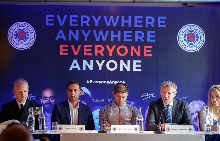 22.07.2019 Rangers launch diversity and inclusion campaign 'Everyone, Anyone'  at Ibrox today. Stewart Robertson
