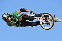 16 August, 2012:  Jamie Bestwick competes during the  BMX Vert Final: Round 1 at the Pantech Beach Championships in Ocean City, MD