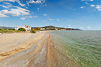 The beach Komi in Chios island, Greece