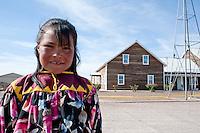 A Tarahumara indian girl in a Menonite community, Ciudad Cuahutemoc, Chihuahua, Mexico. Aromas y Sabores with Chef Patricia Quintana