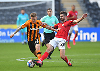 Hull City's Thomas Mayer battles with Crew Alexandra's Luke Murphy<br /> <br /> Photographer Dave Howarth/CameraSport<br /> <br /> The EFL Sky Bet League One - Hull City v Crewe Alexandra - Saturday 19th September 2020 - KCOM Stadium - Kingston upon Hull<br /> <br /> World Copyright © 2020 CameraSport. All rights reserved. 43 Linden Ave. Countesthorpe. Leicester. England. LE8 5PG - Tel: +44 (0) 116 277 4147 - admin@camerasport.com - www.camerasport.com