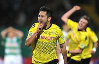 FUSSBALL   DFB POKAL   SAISON 2011/2012   HALBFINALE SpVgg Greuther Fuerth - Borussia Dortmund                  20.03.2012 Jubel nach dem Tor zum 0:1, Ilkay Guendogan (Borussia Dortmund)