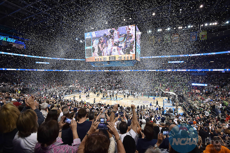 07 APR 2015: The University of Connecticut takes on the Notre Dame University during the Division I Women's Basketball Championship held at Amalie Arena in Tampa, FL. Justin Tafoya/NCAA Photos