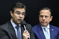 """São Paulo (SP), 29/07/2019 - Política / Governo / São Paulo - Rodrigo Garcia, Vice Governador de São Paulo, e João Doria, Governador de São Paulo, durante anúncio do """"Projeto Star"""", que prevê o investimento de R$ 7 bilhões da Bracell para a expansão da fábrica de celulose no estado de São Paulo, nesta segunda-feira, 29. (Foto Charles Sholl/Brazil Photo Press/Agencia O Globo) Politica"""