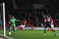 John Marquis scores Doncaster's third goal during Charlton Athletic vs Doncaster Rovers, Sky Bet EFL League 1 Play-Off Football at The Valley on 17th May 2019