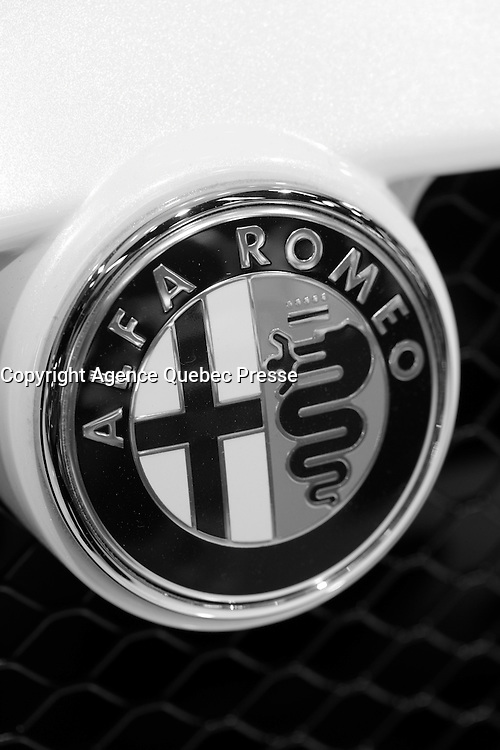 ALFA ROMEO <br /> 2016 model at Montreal car show. January 15, 2016<br /> <br /> Photo : Pierre Roussel - Agence Quebec Presse<br /> <br /> <br /> <br /> <br /> <br /> <br /> <br /> <br /> <br /> <br /> <br /> .