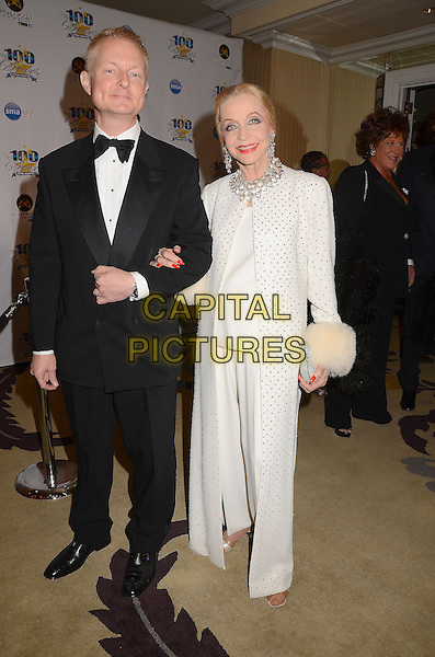 guest & Anne Jefferies.23nd Annual Night of 100 Stars Awards Gala hosted by Norby Walters celebrating the 85th Annual Academy Awards held at the Beverly Hills Hotel, Beverly Hills, California, USA..February 24th, 2013.full length black white suit tuxedo.CAP/ADM/BT.©Birdie Thompson/AdMedia/Capital Pictures.