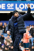 Chelsea manager Frank Lampard applauds the fans at the final whistle <br /> <br /> Photographer Stephanie Meek/CameraSport<br /> <br /> The Premier League - Chelsea v Everton - Sunday 8th March 2020 - Stamford Bridge - London<br /> <br /> World Copyright © 2020 CameraSport. All rights reserved. 43 Linden Ave. Countesthorpe. Leicester. England. LE8 5PG - Tel: +44 (0) 116 277 4147 - admin@camerasport.com - www.camerasport.com